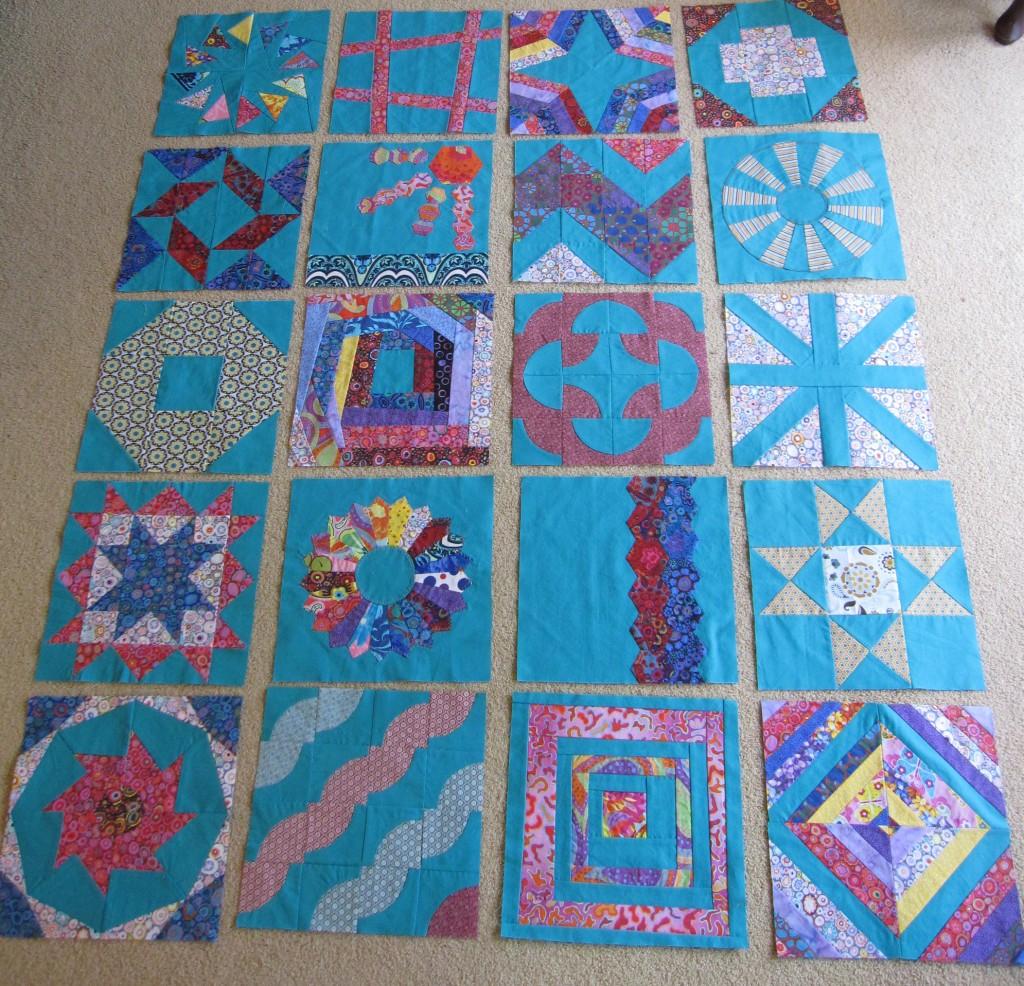 All 20 quilt blocks