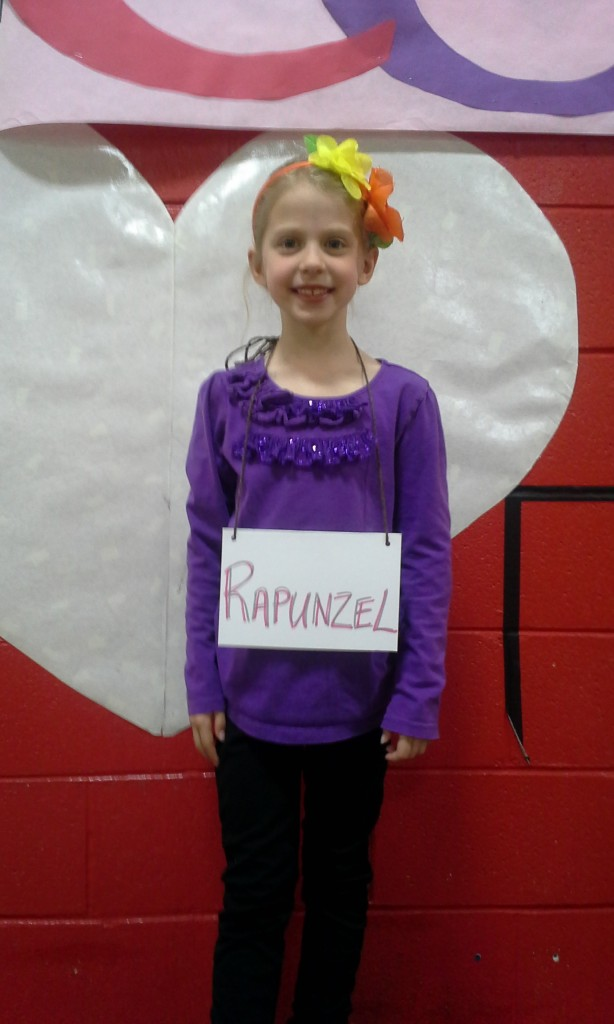 """Emmy in her school musical, """"Character Matters."""""""