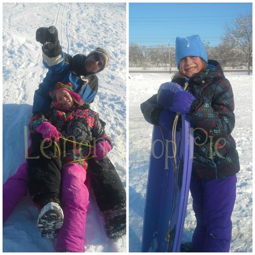Watermarked Sledding Collage
